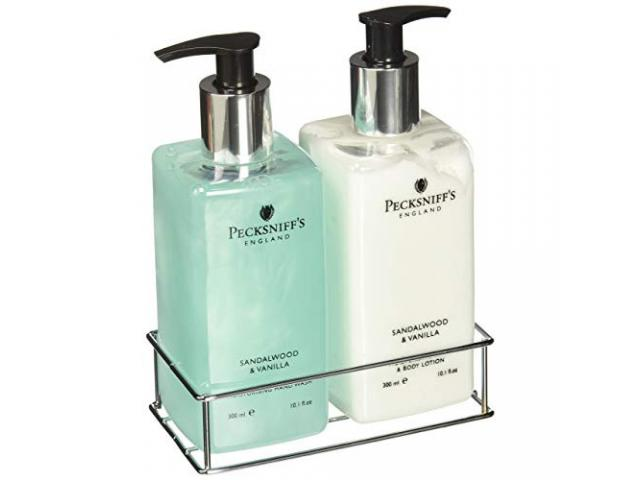 Free Sandalwood And Vanilla Hand Wash And Body Lotion Set By Pecksniffs Sample!