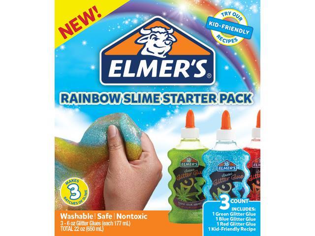 Free Rainbow Glitter Slime Starter Pack Sample! - MADNEY
